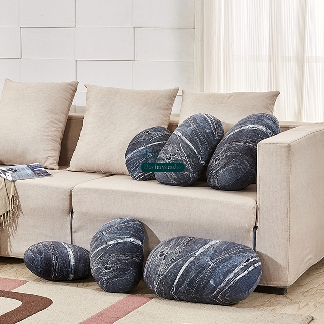 Dorimytrader New Fashion Giant Sofa Cushion Simulated Jupiter Stone Plush  Pillow Home Decoration Kids Play Doll