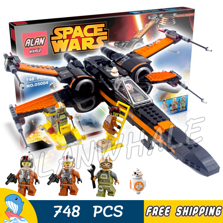 748pcs New Space Wars Poe's X-Wing Fighter 10466 Model Building Blocks Poe Dameron Boys Children Toys Brick Compatible With Lego hot sale building blocks assembled star first wars order poe s x toys wing fighter compatible lepins educational toys diy gift