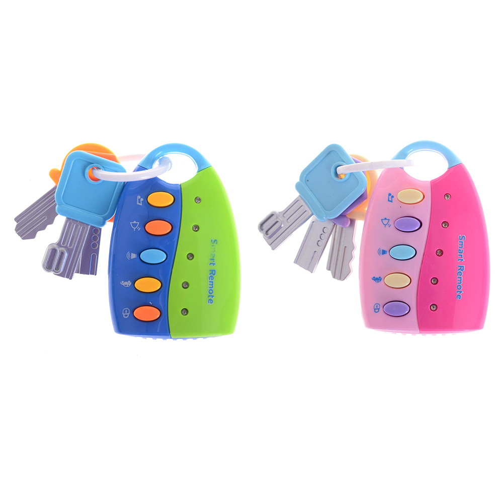 1PC  2 Colors Baby Toys Colorful Flash Music Smart Remote Car Voices Musical Car Key Toy Pretend Play Education Toy Музыка