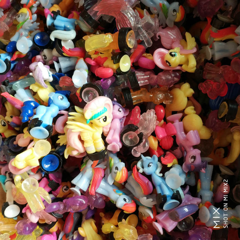 Wholesale 50pcs/lot Pony Action Figures Princess Soft Rubber Toy Girl Gift Vinyl Doll Birthday Toys Children Anime Horse Figure