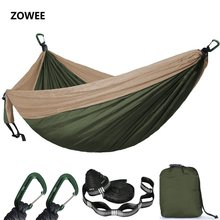 2 3 Person Solid Color Parachute Hammock Camping Survival garden swing Leisure travel Portable Hammock for outdoor furniture