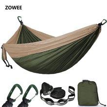 2 3 Persoon Effen Kleur Parachute Hangmat Camping Survival Tuin Swing Leisure Reizen Draagbare Hangmat Voor Outdoor Meubels