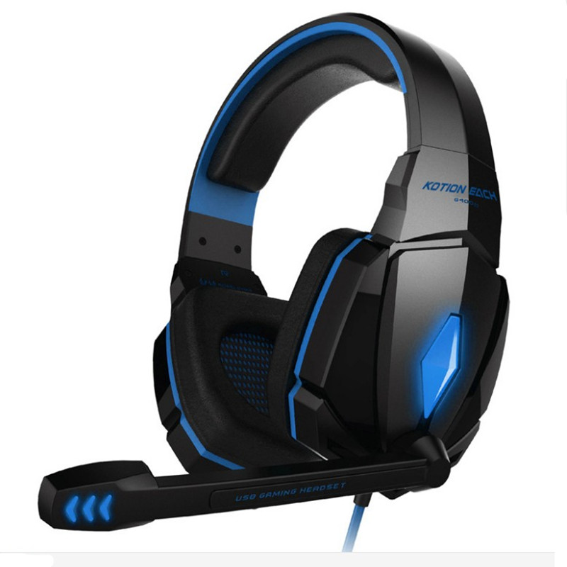 KOTION EACH G4000 Gaming headphone for computer Wired Gaming headset gamer with microphone led noise canceling headphones kotion each g1000 earphones gaming headset gamer wired game headphones luminous headphone with microphone led for computer pc