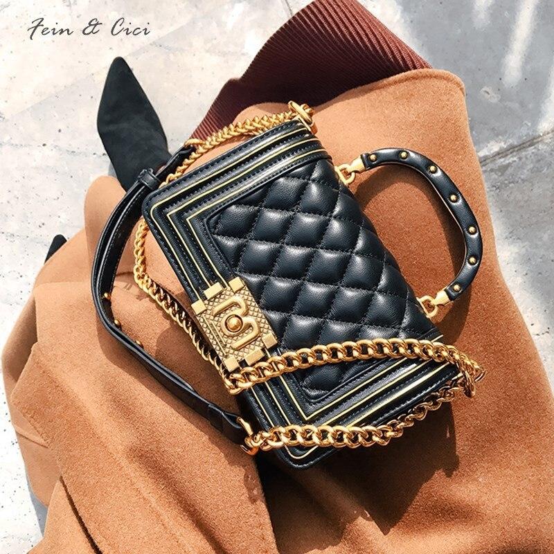 Цепи сумка CF клапаном сумки женские роскошные брендовые ватные Crossbody мешок партии 2018 черный синий серый зеленый кофе