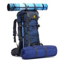Nylon Waterproof Camping Backpack 60L Large Mountaineering Camping Hiking Bag Rucksack Women Men for Yoga mat trekking pack