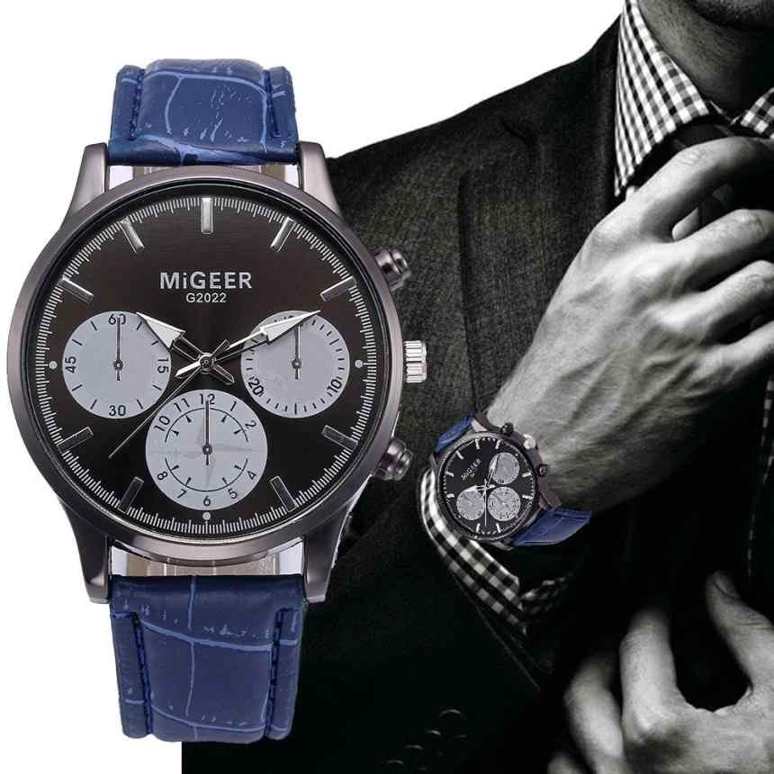 Mens Watches Top Brand Luxury Otomatis Mekanis Desain Retro Kulit Band Analog Alloy QUARTZ Wrist Watch Clock Wanita Vintage