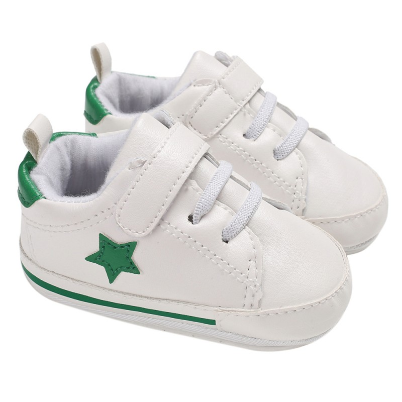 Spring Summer Fashion Childrens Classic Baby Girl Boy Toddler Shoes Five-Star White Shoes Non-Slip Soft The First Walker