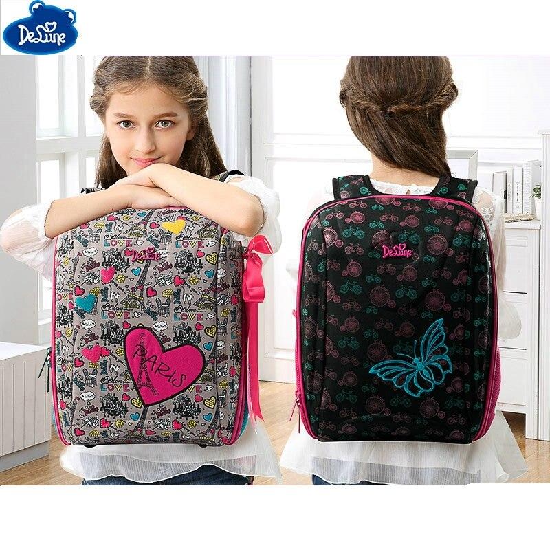 High Quality Delune Orthopedic Backpacks Kids Cartoon Waterproof Ergonomic Design Schoolbag Children Girls Boys School Bags