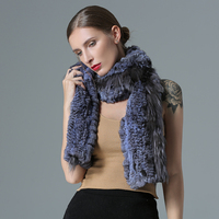China AYJ fur authentic chinchilla fox fur knitting dye collar scarf tippet scarf warm 22*160cm exemption from postage