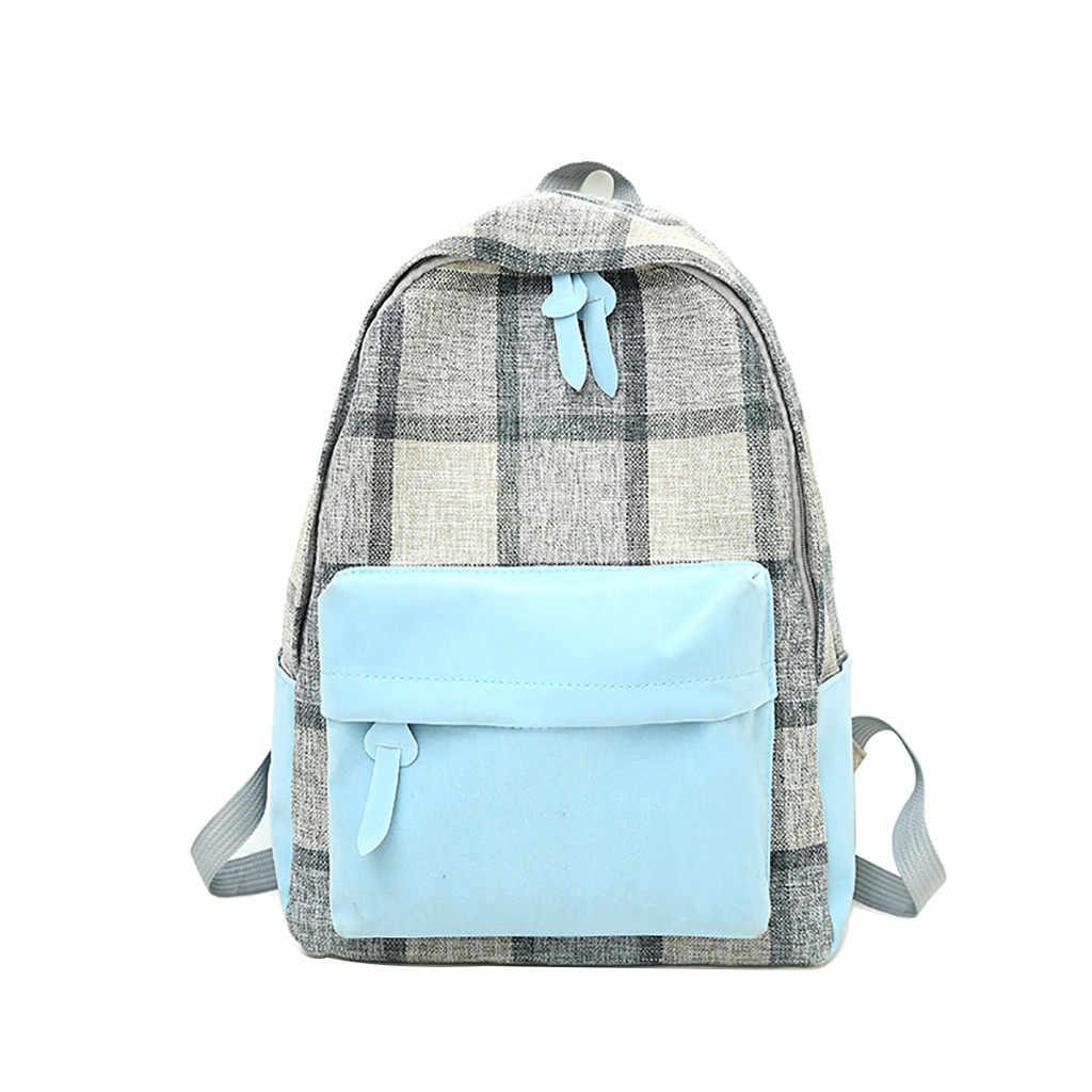 Aelicy 2019 de lona de las mujeres bolso Retro de estudiante de escuela secundaria mochila mochilas para adolescentes estudiante bolsas cuaderno de viaje