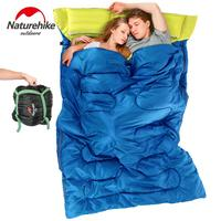 Naturehike Double Sleeping Bag 3 Season Adult Outdoor Camping Travel Equipment Pillows Ultralight Envelope Couples Sleeping