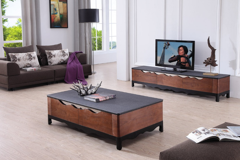 Lizz Black Living Room Furniture Tv Stand And Coffee Table Modern Tv
