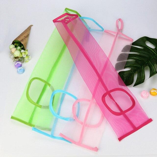 Rede de malha Saco de Compras Bolsa de Ombro Longa Alça Reutilizável Mercearia Shopper Tote do Algodão de Malha Tecido Líquido Da Cadeia de Frutas Sacos W0510