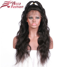 wicca Fashion Lace Wig Peruvian Non-Remy Hair Body Wave Pre Plucked Natural Hairline Lace Frontal Wigs