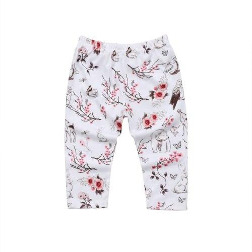 Модная детская одежда с цветочным рисунком для маленьких девочек; леггинсы; хлопковые брюки; брюки для новорожденных