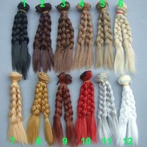 1 шт., волнистые волосы коричневого цвета, 15 см х 100 см, кофейного, черного, коричневого цвета, натуральный цвет, вьющиеся волосы с париком, пле...