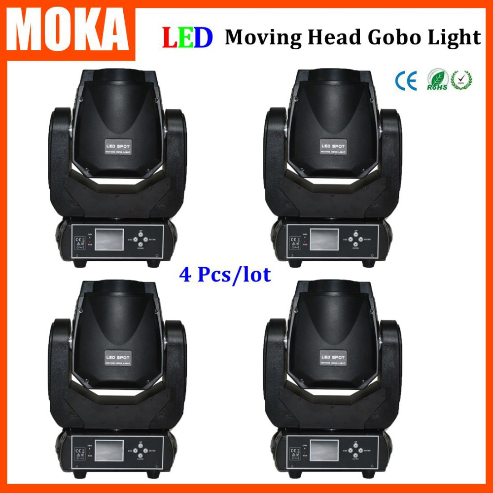 4 Pcs/lot LED Moving head 90W rgbw 4 in1 zoom led wash moving head light gobo beam stage night club disco bar lighting niugul dmx stage light mini 10w led spot moving head light led patterns lamp dj disco lighting 10w led gobo lights chandelier