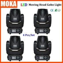 4 Шт./лот LED Moving head 90 Вт rgbw 4 in1 увеличить led вымойте moving головной свет гобо луч этап ночной клуб, диско-бар освещение