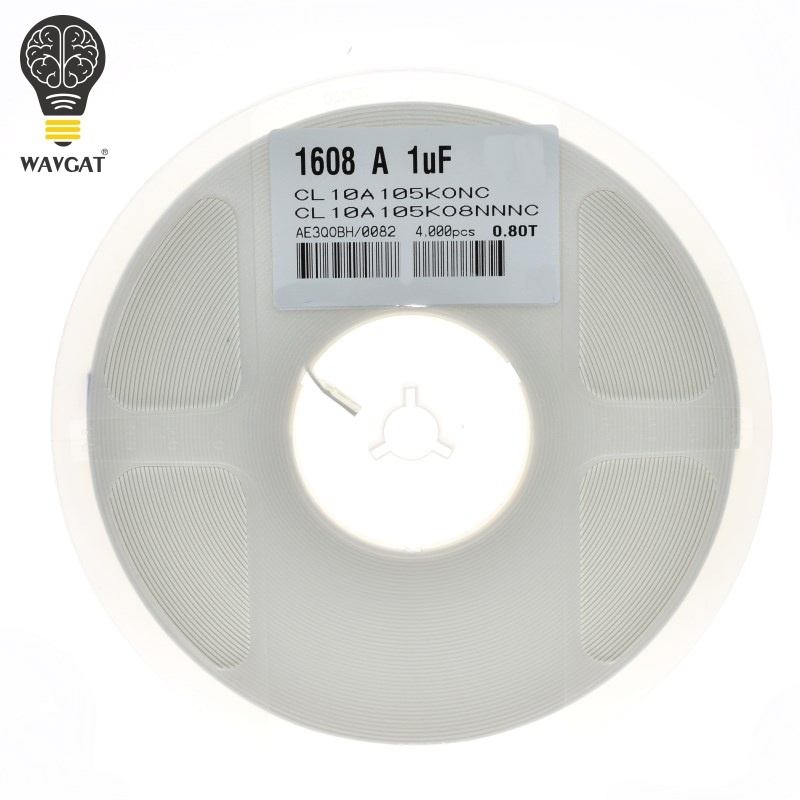 100PCS 1nF 10nF <font><b>100nF</b></font> 0.1uF 1uF 10uF <font><b>0603</b></font> X7R Error 10% SMD Thick Film Chip Multilayer Ceramic Capacitor 102 103 104 105 106 image