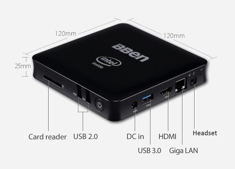 2 gb/32 gb mini pc 4 gb/64 gb nuevo smart tv box quad-core intel atom z8350 smar