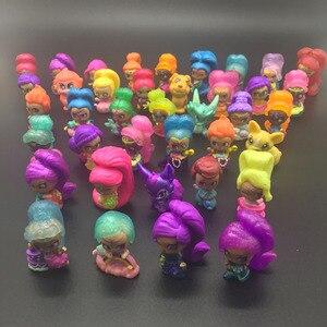 Image 4 - 20 pièces/lot miroitant Figure jouet en plastique Mini Action modèle jouet pour filles jouet cadeau