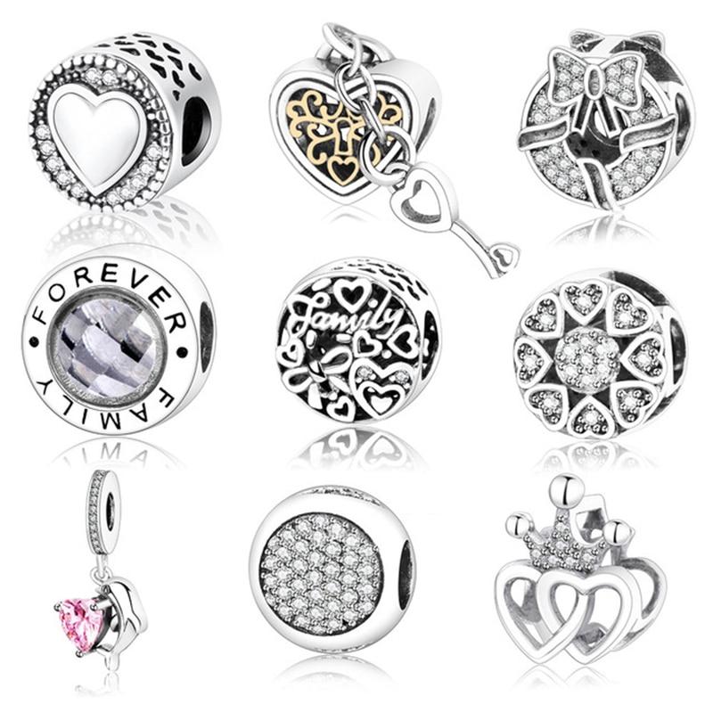 2017 Jesen 2017 Prihodite pristno 925 Sterling Silver Charms Fit - Modni nakit