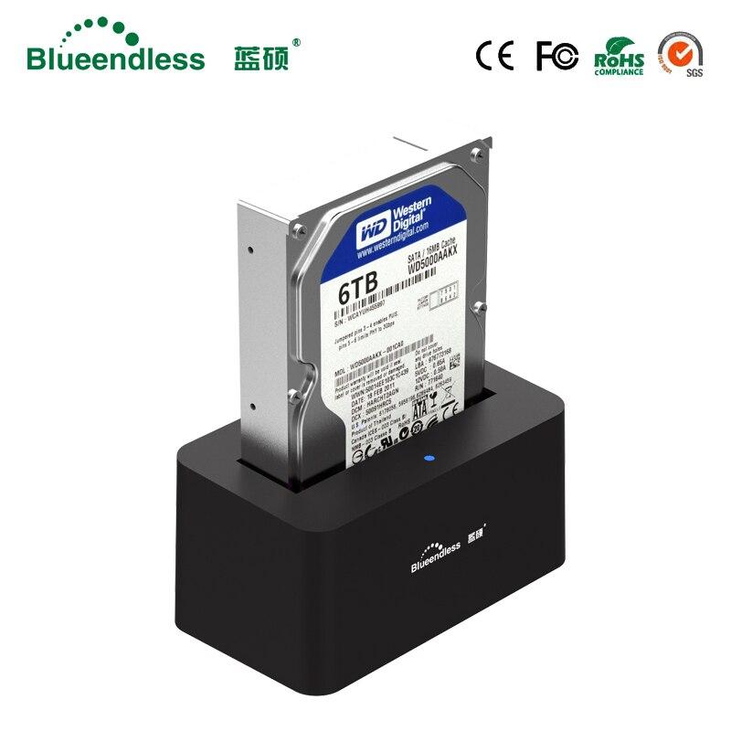 1-baie USB 3.0 à SATA3 jusqu'à 6 to Hdd Station d'accueil soutien 2.5 ''3.5'' pouces HDD avec 5 Gbps haute vitesse DC12V/2A alimentation - 2