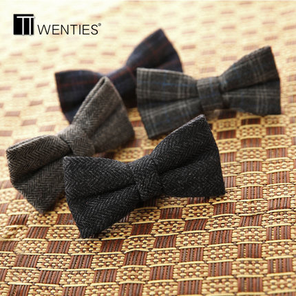 High-grade wool tie Men's suits bowknot business marriage the groom's best man bow tie England trend bow tie