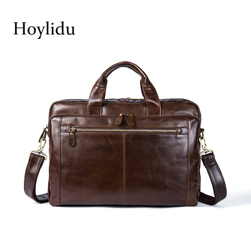 Mens Business Briefcase Genuine Leather Fashion Vintage Waterproof Handbag Large Capacity Messenger Bags For Male Crossbody BagMens Business Briefcase Genuine Leather Fashion Vintage Waterproof Handbag Large Capacity Messenger Bags For Male Crossbody Bag