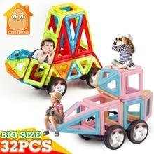 MiniTudou Enfants Jouets 32 PCS Éclairer Briques Éducatifs Designer Magnétique Blocs de Construction Modèle de Construction Jouets Pour Enfants