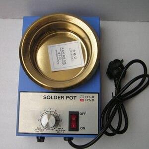 Image 1 - 220V 150 W/300 W Pot Saldatura di Stagno Forno di Fusione di termoregolazione di Saldatura Dissaldatura Bath 50 millimetri/100 mm 200 ~ 450 gradi centigradi