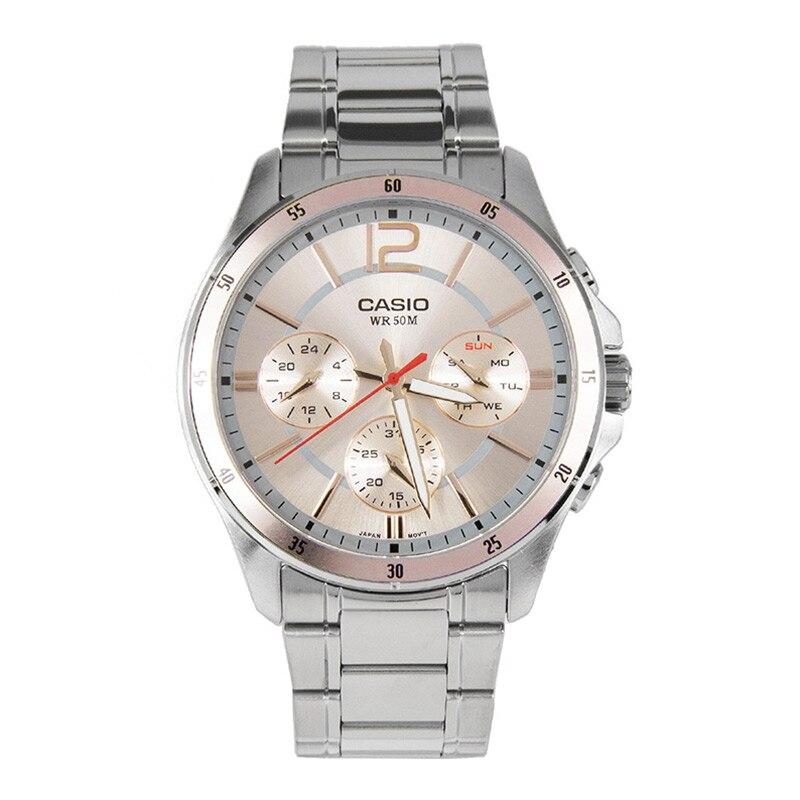 e8d462f670c Casio NEW fashion business 50 meters waterproof watch men s sports  waterproof quartz watch strap MTP-