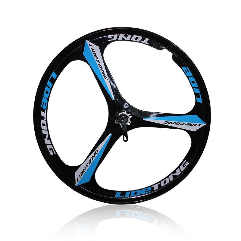 Jantes 24/26 pouces pour VTT vtt, vélo en alliage de magnésium à 3 rayons, Type de roulement, roue avant à dégagement rapide