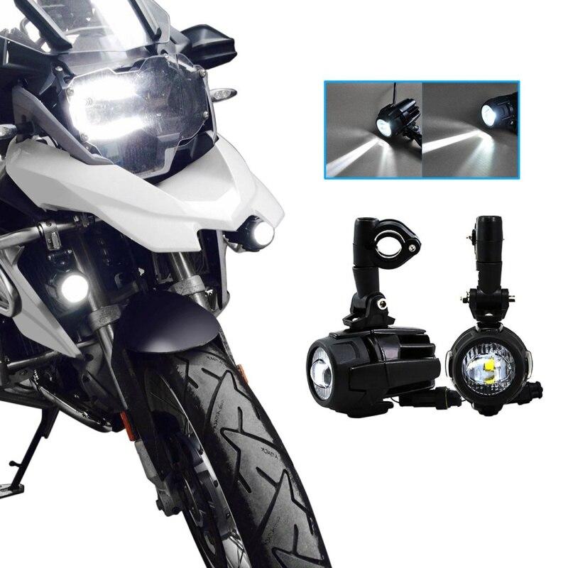 FADUIES moto LED antibrouillard & protection gardes avec faisceau de câblage pour BMW R1200 GS/ADV moto LED lumières blanc 6000 k - 5