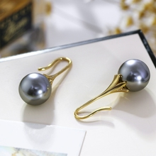 Unique earrings! Top quality  Imitation Pearl Earrings for Women Grey Color Anniversary gift Wedding Pearl jewelry earrings
