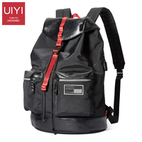 UIYI Backpack Men S 14 Laptop Casual Shoulder Bag Black Backpack For Young People With Polyester
