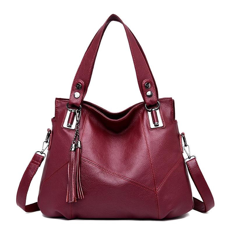 2019 Women's Genuine Leather Handbags Shoulder Bag Luxury Brand Tote Bags for Women Crossbody Bags Handbags Women Famous Brands