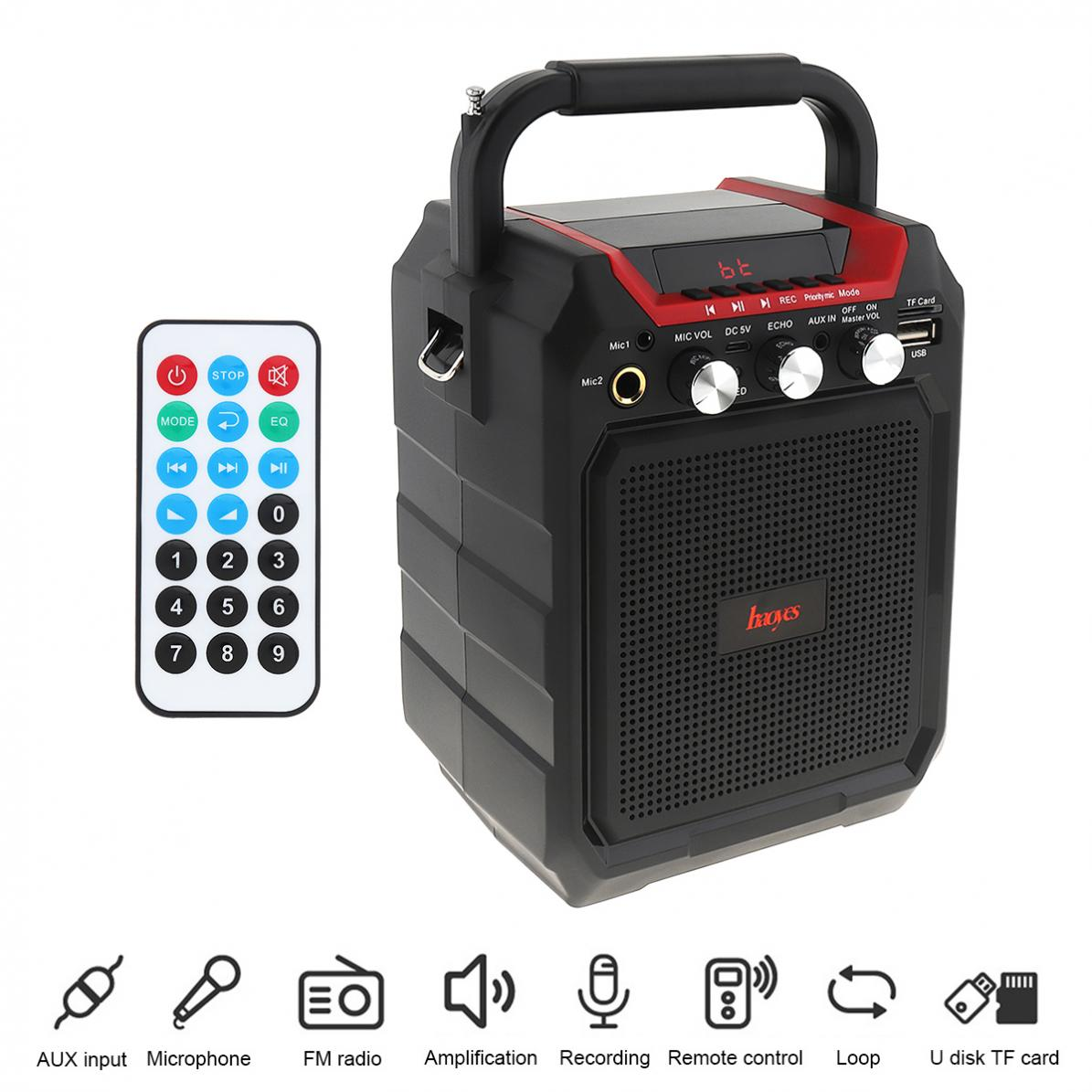 K99 Portable 3D Surround Subwoofer Speaker Support One click Recording Dual Microphone for Meetings Performances Party