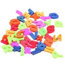 42 sztuk/zestaw magnesy nauczanie alfabetu kolorowe litery i cyfry magnetyczne lodówka