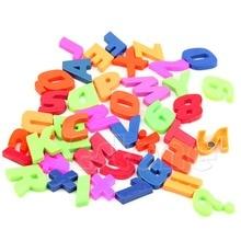 42 unids/set de imanes alfabeto de enseñanza letras y números magnéticos coloridos para nevera