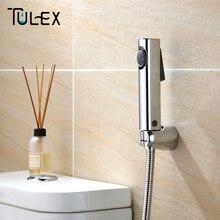 TULEX Туалет Биде Душ ручной опрыскиватель душевая головка Ванная комната хромированная гигиенические душевые аксессуары для ванной комнаты