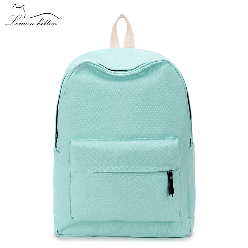 2018 Canvas Plain Japan Style Minimalism Best Backpack For Adolescent Girl Female New Travel Leisure Women Backpack Shoulder Bag