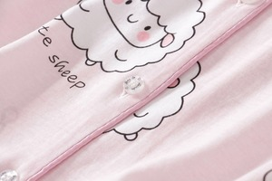 Image 5 - Camisetas y pantalones cortos con estampado de ovejas Bluecute rosa, pijamas para mujer, camisón de manga corta con estampado de dibujos animados para verano del 2019