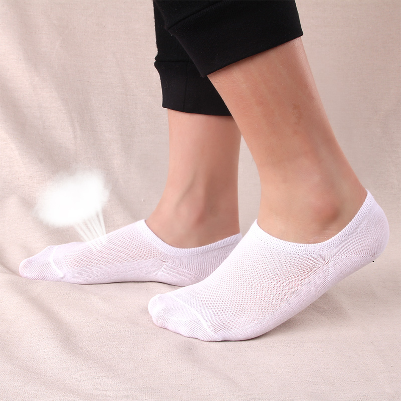 5Pairs Men Socks Summer Invisible Enlarge Code Male Boat Sock Breathable Cotton Stretchy Silica Gel Non-slip Shallow Mouth Socks