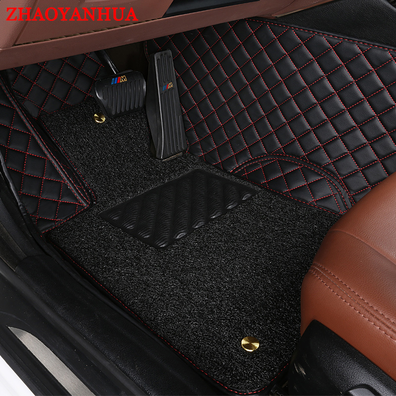 ZHAOYANHUA car floor mats for <font><b>Mercedes</b></font> Benz W245 <font><b>W246</b></font> B class B160 <font><b>B180</b></font> B200 B220 B260 5D foot case rugs carpet liners image