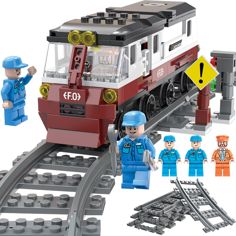 Bloques de construcción de diseño compatibles LegoINGLYS City Reparación de figuras de tren defectuosas juguetes para niños regalos