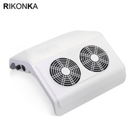 RIKONKA 50W Powerful Nail Dust Collector Manicure Machine Vacuum Cleaner With 2 Fans UV Gel Nail Polish Tools Nail Dust Suction