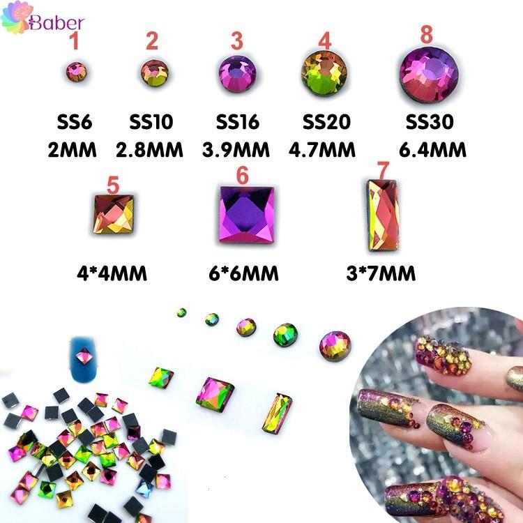 3d Nail Jewelry Nail Rhinestones Fingernails Nail Art Decorations Crystal Super Shiny Diamond Studs Glitter Flakes Fire Stones