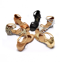 Ballroom Salsa Tango Latin Dance Shoes Low Heels Dancing For Kids Girls Children Women Ladies Free