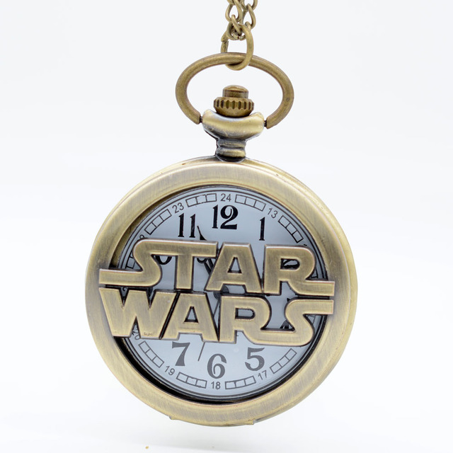 Fashion Bronze STAR WARS Sci-fi Science fiction movies Quartz Pocket Watch Analo